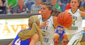 Chandler Fulks drives to the basket during the Chesapeake Lady Dragons' win over Northwest in Saturday's Division III district semifinal. (Kent Sanborn of Southern Ohio Sports Photos.com)
