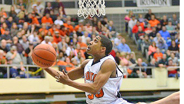 Ironton Fighting Tigers' senior guard Zac Carter was named to the Associated Press Division III All-Ohio first team. Carter leads a list of eight area players honored by the AP. (Kent Sanborn of Southern Ohio Sports Photos.com)