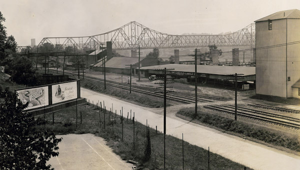 The Carlyle Tile and Brick Company was a staple of Coal Grove industry until its collapse in 1978. The plant has been demolished and the area reclaimed.