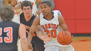 Ironton Fighting Tigers senior guard Zac Carter was named the Associated Press Southeast District Division III Player of the Year.  (Kent Sanborn / Southern Ohio Sports Photos.com)