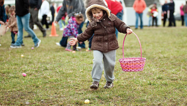 Cold temperatures did not keep area children from coming to the soccer fields for the annual Easter Egg Hunt.