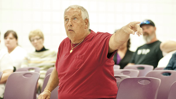 Steve Wyant, a West Chesapeake resident, airs his opinions and concerns over annexation.