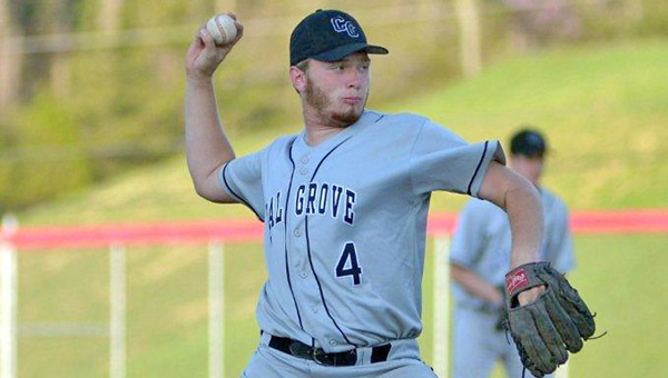 Coal Grove pitcher Jacob Pierce threw a one-hitter as the Hornets beat the Rock Hill Redmen 8-1 on Monday in an Ohio Valley Conference game. (Kent Sanborn of Southern Ohio Sports Photos.com)