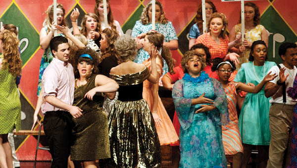 """Students from the Ironton High School Drama Department present the musical """"Hairspray"""" at the Ironton High School Auditorium."""