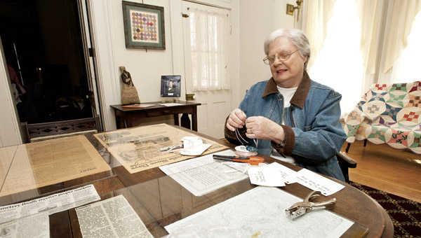 Kay Rader with the Lawrence County Historical Society is helping to prepare the local museum for opening day this Sunday.