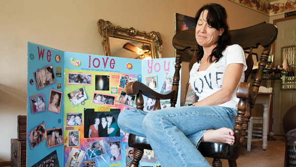 Melody York holds back the tears as she talks of daughter Cassie Owens.