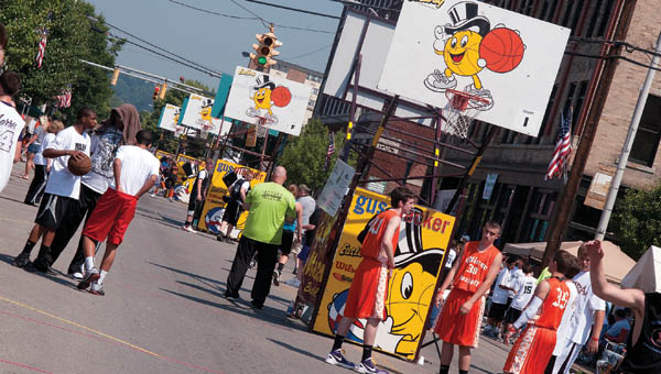 Scenes from the 2012 Gus Macker 3-on-3 Basketball event in downtown Ironton.