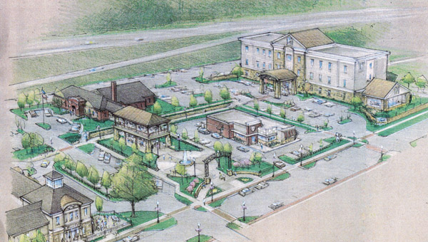 An artist's rendering of what the Ninth Street development project could look like. Many of the details are still being finalized and the finished design could vary significantly.