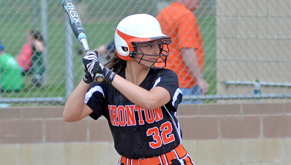 Ironton Lady Fighting Tigers' Karlee McMackin went 2-2 with a double, a triple and an RBI in a 10-1 tournament loss. (Kent Sanborn of Southern Ohio Sports Photos)