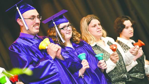 """Open Door School graduates and students perform the song """"Friends."""""""