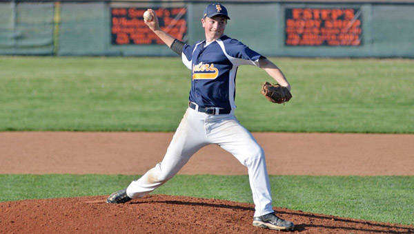 South Point pitcher Alex Whitt threw 4.2 innings of scoreless relief as the Pointers rally past Raceland 7-5 on Tuesday. (Kent Sanborn of Southern Ohio Sports Photos.com)