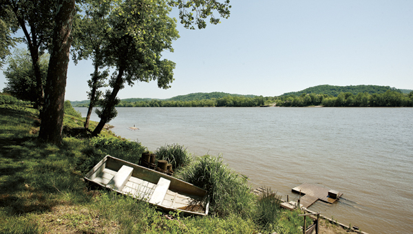 A view of the Ohio River from the eastern end of Lawrence County in Rome Township.