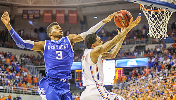 Kentucky's Nerlens Noel (3) is considered to be the No. 1 selection in Thursday's NBA draft. (MCT Direct Photo)