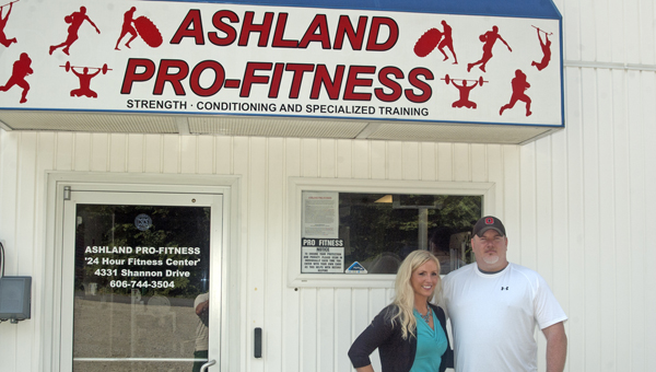 Owners Rosa and Walt DeLong opened their 24-7 fitness center in conjunction with Rosa DeLong's physical therapy business in the upstairs building. (The Ironton Tribune / Jimmy Walker)
