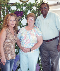 From left to right are Melinda Russell, Ironton Senior Center Director, and Linda and Ed Holmes. The Holmeses were chosen as the 2013 Seniors of the Year for their volunteer work at the center.
