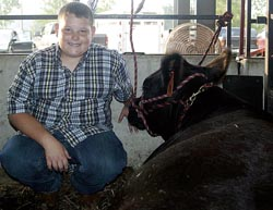 Chad Morris won junior showman in the beef breeding category.