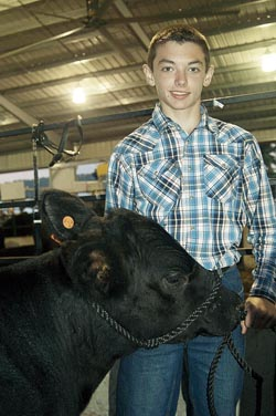 Noah Lambert, 13, won the class two feeder calf showman trophy.