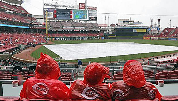 The game between the San Francisco Giants and Cincinnati Reds at Great American Ball Park in Cincinnati was rained out on Thursday. A makeup date has not been set and could be played at a neutral site. (Photo Courtesy of The Cincinnati Reds)