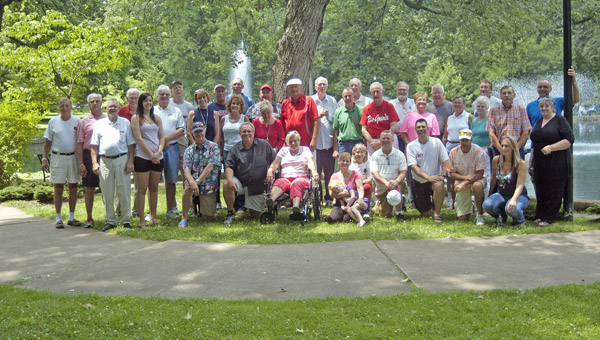 Former University of Rio Grande graduates and their spouses gathered for a reunion at Ashland's Central Park on Sunday, June 23. (The Ironton Tribune / Jimmy Walker)