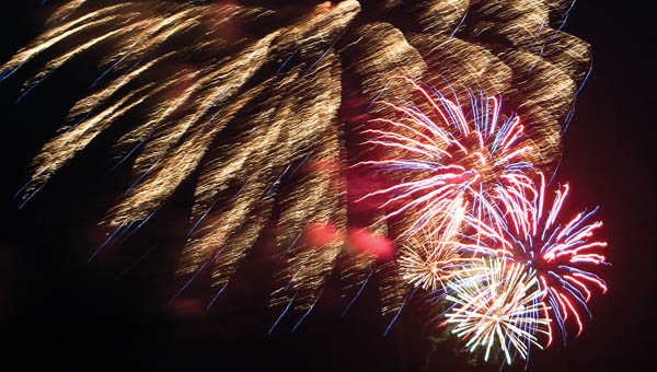 The skies were lit up Wednesday evening as the Coal Grove Betterment Club put on its fireworks finale that signals the end of the three day Family Fun Days event held at Paul Porter Park. Residents lined the streets and filled the parking lots of Coal Grove to view the event.