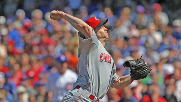 Cincinnati Reds starting pitcher Bronson Arroyo works against the Chicago Cubs at Wrigley Field in Chicago on Wednesday. The Reds won 5-0 as Arroyo allowed only two hits in seven innings, striking out seven and walking none. (MCT Direct Photos)