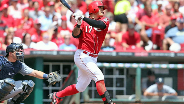 The playing status of Cincinnati Reds' centerfielder and leadoff hitter Shin-Soo Choo is uncertain for Friday's game against St. Louis. Choo suffered a sprained ankle on Sunday and has had limited playing time in the past three games. (Photo Courtesy of The Cincinnati Reds)