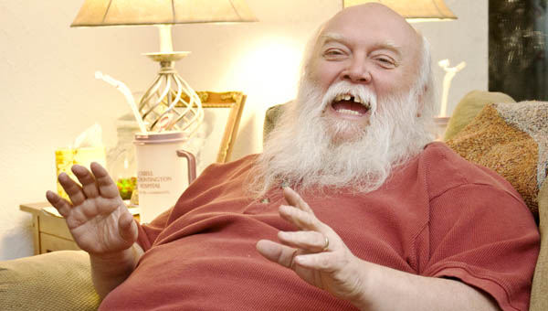 The Tribune/jessica St. James Robert McCloud is back to playing Santa Claus after rehab at Sunset Nursing facility.
