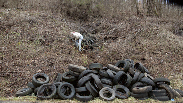 The LSSWMD coupled with the Ohio EPA cleaned up a dump site of more than 1,000 tires.