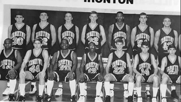 Members of the 1993-94 Ironton Fighting Tigers' first-ever Final Four basketball team were: front row from left to right, J.J. King, Mike Freeman, Jermon Jackson, Marq Davis, Travis Wylie, Patrick Mahlmeister and Jason Click; second row from left to right, Cary Williams, Mark White, Sean Southers, Tom Kelley, Damon Pringle, Troy Sands and Ryan Guthrie. (File Photo)