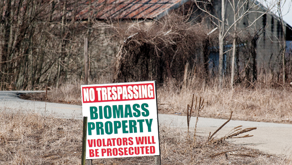 Biomass acreage is located next to The Point.