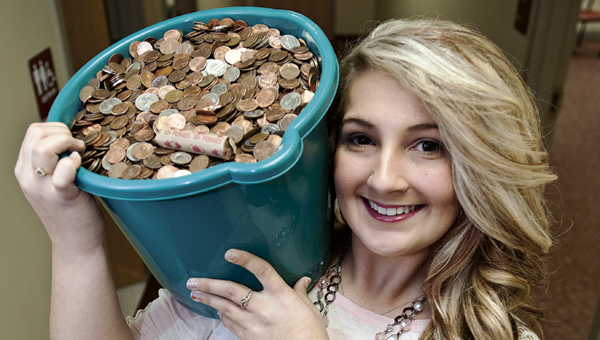 THE TRIBUNE/JESSICA ST JAMES Rock Hill High School senior Courtney Joseph has been on a mission to raise funds for the Leukemia and Lymphoma Society through a penny drive at Rock Hill schools.