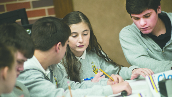 Students from St. Joseph School competed in the annual Lawrence County Quiz Bowl Tournament Friday at Ohio University Southern. St. Joseph placed first in the event.