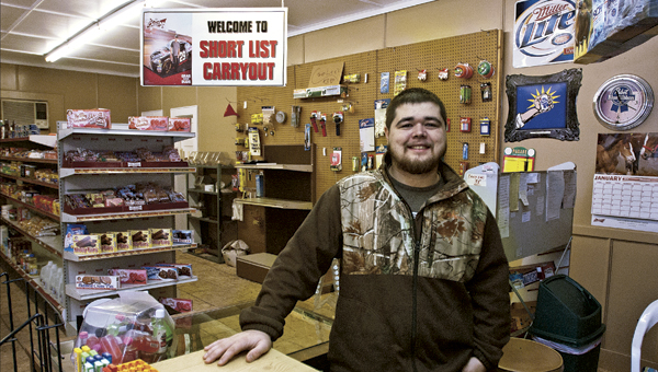 THE TRIBUNE/JESSICA ST JAMES Casey Thomas is the owner of Short List Grocery and Carryout, located six miles out State Route 93.
