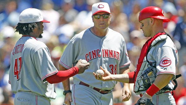 Cincinnati Reds' new manager Bryan Price (38) begins his first spring training camp Friday as pitchers and catchers report. (MCT Direct Photos)