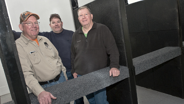 Jessica St. James/Ironton Tribune. The Harper brothers stand inside the newly opened K-Hill Indoor Shooting Range.