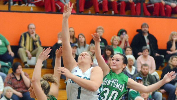 Fairland Lady Dragons' senior center Terra Stapleton (1) was named the Associated Press Division III Co-Player of the Year on Tuesday. (Kent Sanborn of Southern Ohio Sports Photos)