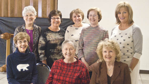 The Child Welfare Club council members from left to right- Seated: Betty Gallagher, Pat Wiseman, and Mary Wiseman. Standing: Carol Allen, Nancy Corn, Mary Jane Clouse, Pat Palmer, and Clearis Dufore.