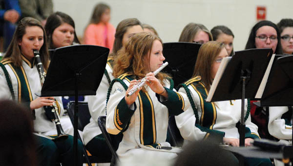 The top student musicians in the county comprise the All County Band that gave its annual concert on Tuesday at Chesapeake High School.