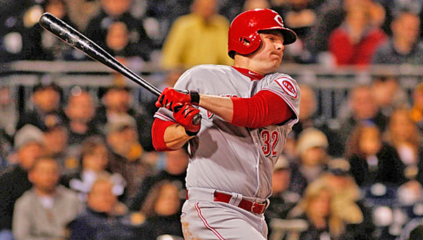 Cincinnati outfielder Jay Bruce had two hits and drove in the decisive run as the Reds beat the Pittsburgh Pirates 5-2 on Wednesday and gave Alfredo Simon his third win. (Photo Courtesy of The Cincinnati Reds)