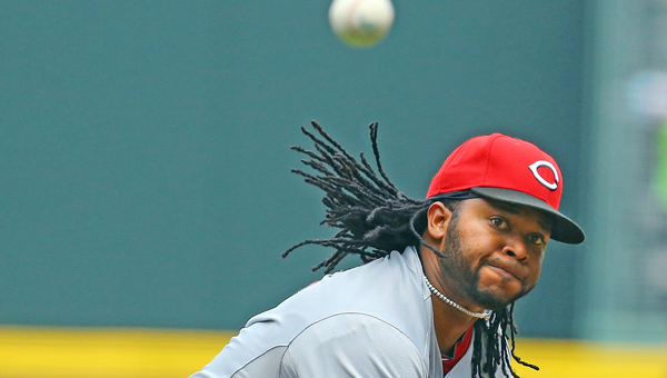 Cincinnati starter Johnny Cueto pitched eight scoreless innings but the Reds lost 1-0 to the Atlanta Braves on Sunday in 10 innings. (MCT Direct Photo)