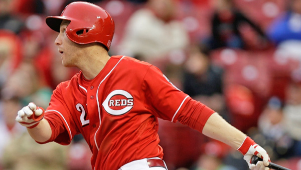 Cincinnati third baseman Todd Frazier connects for a three-run homer to right field, his second home run of the game. The Reds lost to the Cardinals 7-6. (Photos Courtesy of The Cincinnati Reds)