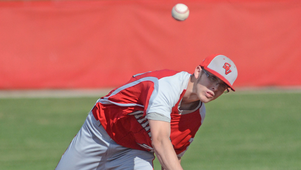 Symmes Valley Vikings' pitcher Dillon McFann threw a complete game in a 4-2 win over the Green Bobcats Thursday. (Kent Sanborn of Southern Ohio Sports Photos)