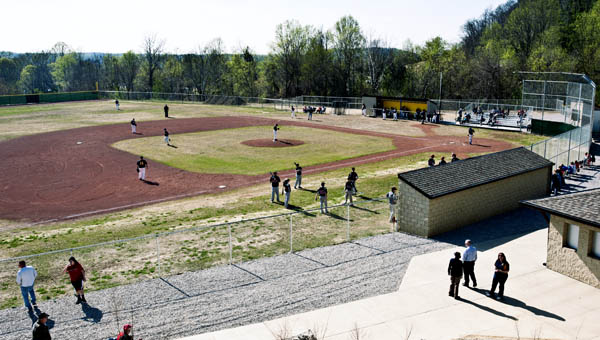 The South Point High School baseball field located on the grounds of South Point High School.