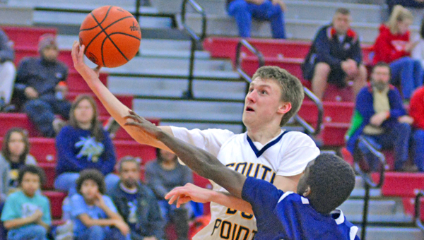 South Point Pointers' senior guard Brandon Barnes has signed to play basketball at Ave Maria University. (Kent Sanborn of Southern Ohio Sports Photos.com)