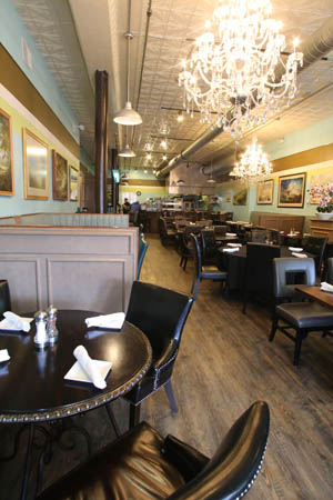 The interior of the Third Avenue restaurant is even a telltale sign that Le Bistro isn't typical to most fine dining establishments.
