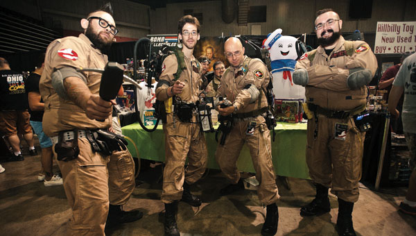 The Ghostbusters make an appearance during the Tri-State Comic Con Saturday at the Big Sandy Superstore Arena Saturday in Huntington, W.Va.