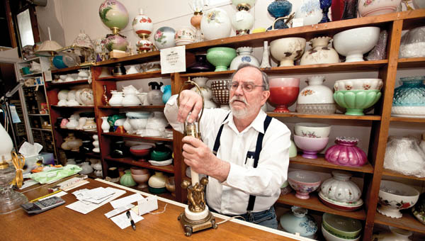 The Lamplighter is part antique shop, part repair store for those antiques that Price now runs as the second generation and third family member to be its caretaker.