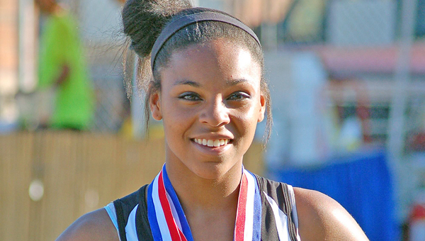 Ironton Middle School sprinter McKenzie Long won the 200-meter dash in the Ohio Middle School state track meet on May 25 at Dublin High School.