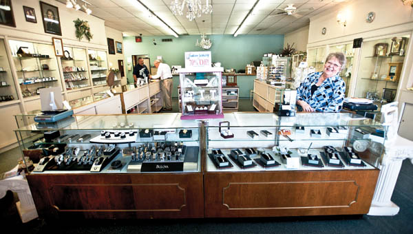 Pam Pinkerton is working at the newly remodeled Allyn's Jewelry located on South Second Street in downtown Ironton.