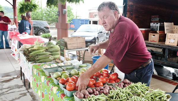 Tom Copley is one of many vendors at the local Ironton Farmers Market.